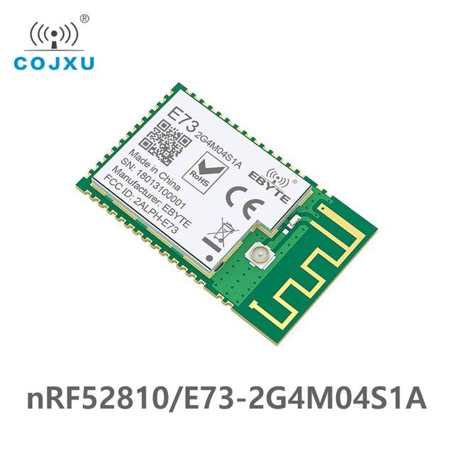 Transmisor Inalámbrico E73 2G4M04S1A Bluetooth nRF52810 ebyte 2,4 Ghz 2,5 mW IPEX Antena de PCB IoT uhf