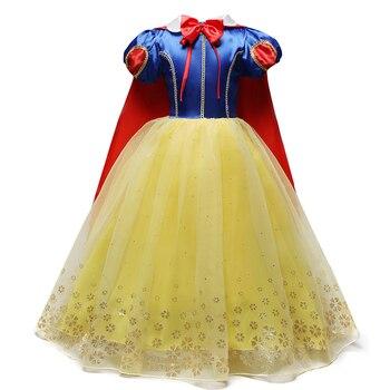4-10T Fancy Princess Dress Baby Girl Clothes Kids Halloween Party Cosplay Costume Children Elsa Anna Dress vestidos infantil 2