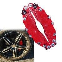 1 paar Rot Einfach Installieren Bremse Abdeckung Hitzebeständige Auto Styling 3D Links Rechts ABS Disc Auto Zubehör Sattel Universal clamp-in Messschieber & Teile aus Kraftfahrzeuge und Motorräder bei