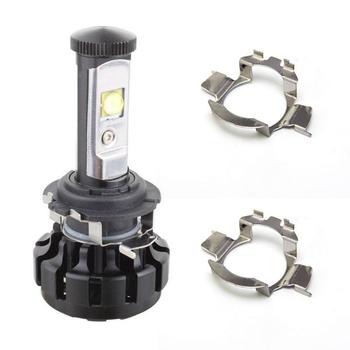 2Pcs H7 LED Car Headlight Bulb Base Holder Adapter Socket For Mercedes-Benz BMW Audi Auto Headlamp Mount Stand For Nissan VW image