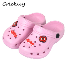 Kids Slippers Summer Children Cartoon Characters Cave Shoes For Boys Girls sandals two Way wear Antiskid Beach
