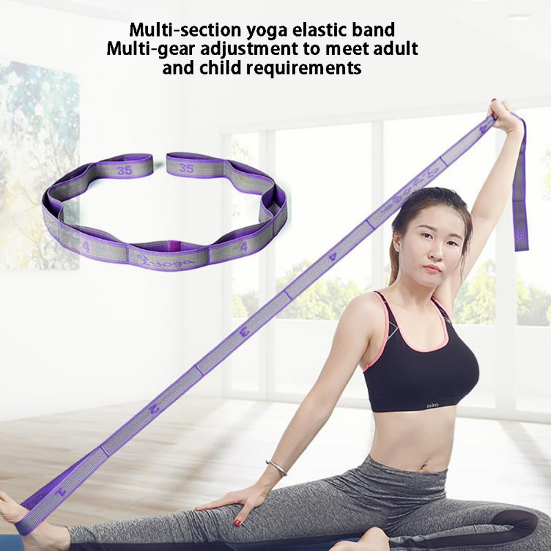 Gymnastics Adult Latin Training Bands Multi-functional Pilates Yoga Stretch Resistance Bands Training Fitness Elastic Band