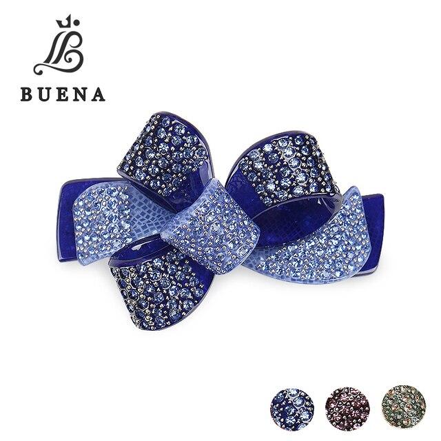 Fashion Ribbons Shaped Hair Clip Rhinestones Hair Barrettes Acrylic Austrian Crystal Bridal Hair pins Free Shippinghairpins weddinghairpin crochethairpin