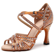 Dance-Shoes Salsa Ballroom Jazz Latin Professionally High-Heels Women Sandals Dancing
