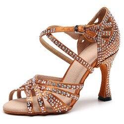 Profissionalmente salsa jazz ballroom latina sapatos de dança para a dança mulheres urbanas checas sandálias de salto alto 1046 verão