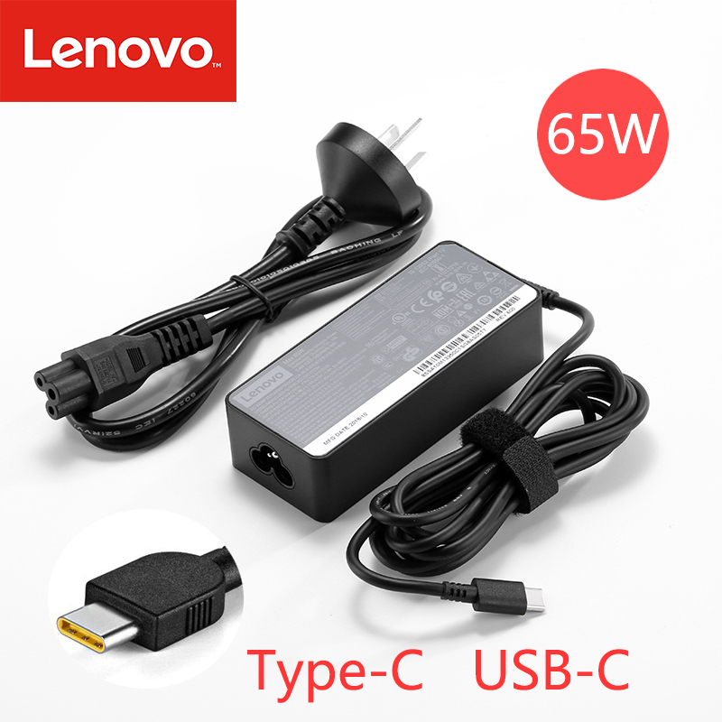 <font><b>20V</b></font> 3.25A 65W USB Type C <font><b>Ac</b></font> Power <font><b>Adapter</b></font> Charger for Lenovo Thinkpad X1 carbon Yoga5 X270 X280 T580 P51s P52s E480 E470 Laptop image