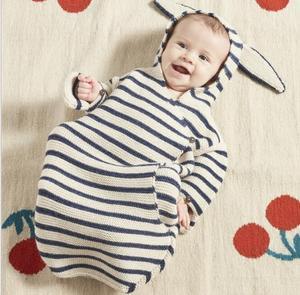 Image 5 - Barboteuse pour bébé, sac de couchage stéréo pour nouveau né, oreilles de lapin, tricoté, vêtements pour bébé, nouvelle collection, automne