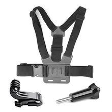 Go Pro Accessoires Voor Gopro Hero7 6 5 4 3 + Actie Sport Camera Borst Head Hand Wrist Strap Voor xiaomi Yi 4 K Eken Auto Supction