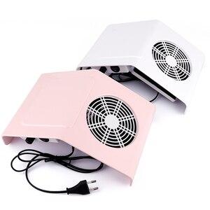 Image 2 - Machine forte de manucure daspirateur dongle de ventilateur de collecteur de poussière daspiration dongle de 40W avec 2 sacs de collecte de poussière outil dongle de Salon
