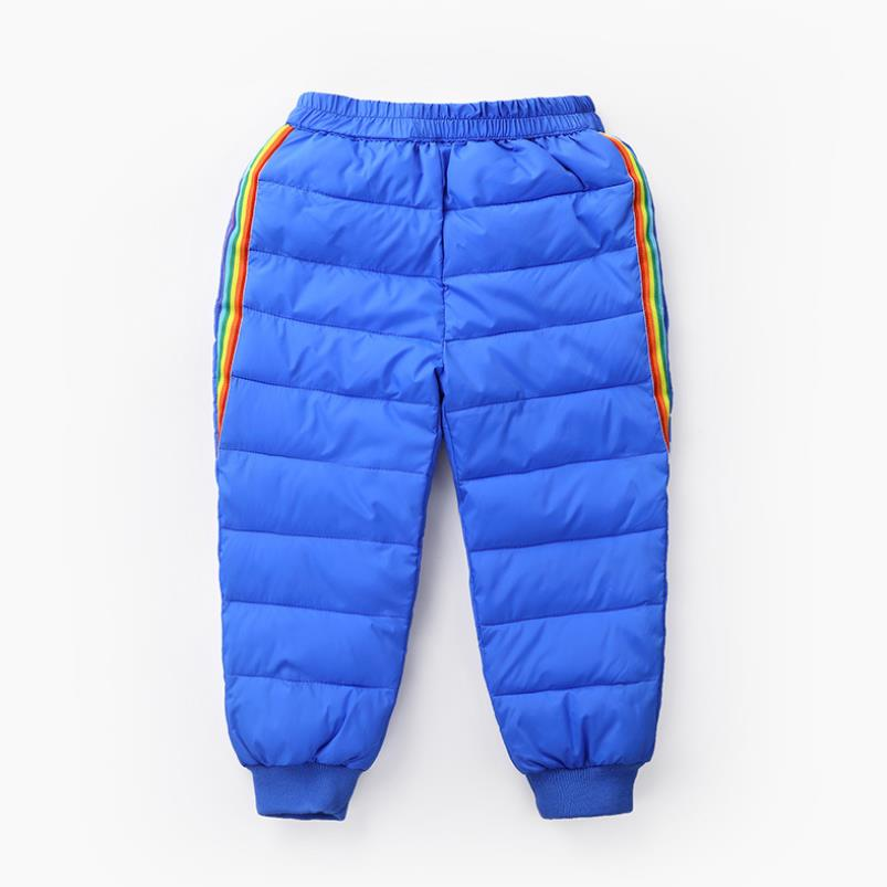 2020 New Boys and girls down cotton trousers 2-6 years old thick warm pants, baby winter trousers children's thick Sweatpants 5