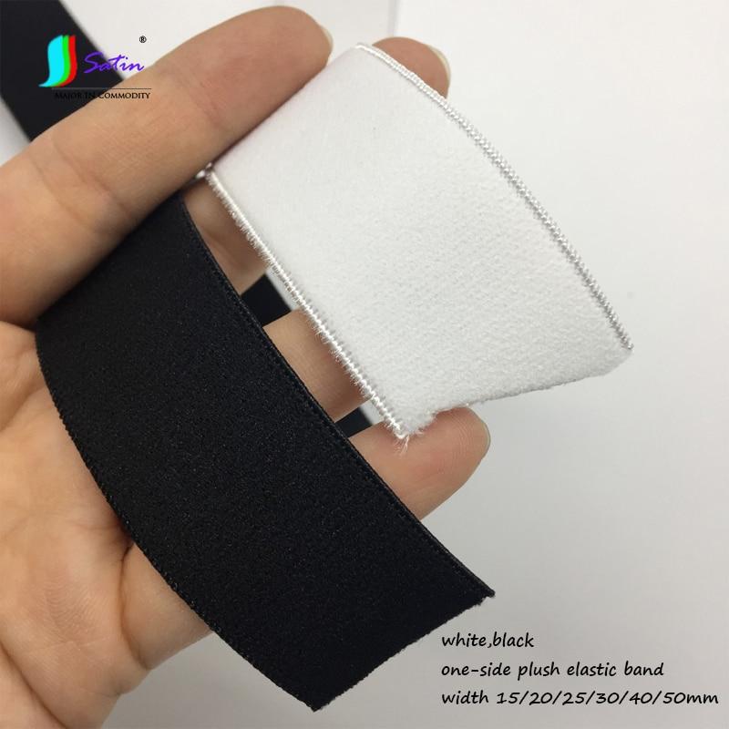 White Soft Velvet Elastic Bands 20 Metres Size 10mm For Headbands Band Craft DIY