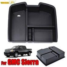 Center Console Organizer Armrest Storage Box for Chevrolet Yukon Avalanche Chevy Tahoe GMC Sierra Silverado Suburban 1500 2500