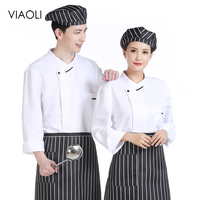 Chef uniforms long sleeved casual cooking shirt hotel restaurant kitchen Baked Chef coat work clothes men catering chef clothing