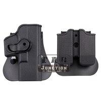 Gire Direito Mão Holster para Glock tático Retenção 17 19 22 23 25 28 31 32 34 com Bolsa de Revista|Coldres|Esporte e Lazer -