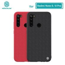 Redmi 注 8 ケース Nillkin 質感ナイロン繊維バックカバーケース Xiaomi Redmi 注 8 Note8 プロ