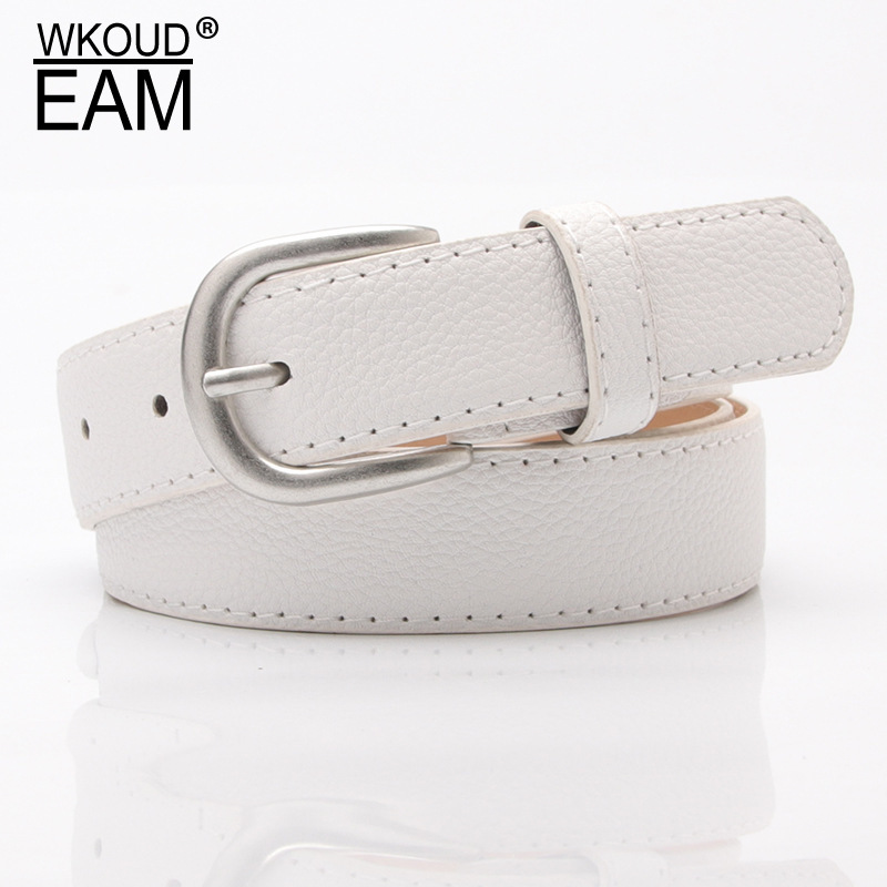 WKOUD EAM 2020 New Pin Buckle PU Leather Belt For Women Simple Wide Waistband Wild Jeans Student Corset Belt Lady Tide PF198