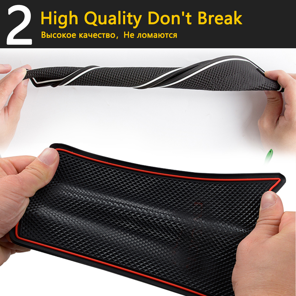 Image 4 - Anti Slip Rubber Cup Cushion Door Groove Mat for Ford Mondeo Fusion V MK5 5 2013~2016 2014 2015 14Pcs Accessories mat for phone-in Car Stickers from Automobiles & Motorcycles