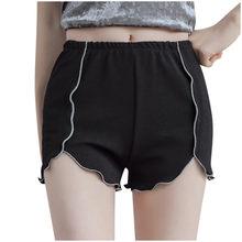 Pantalon court de sécurité pour femmes, grande taille, doux, confortable, sans couture, Slim, solide, décontracté, Boxer, culotte, sous-vêtements extensibles