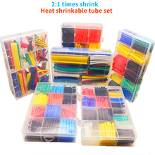 Tubes thermorétractables 2:1, en boîte, 164/328/560/580 pièces, kit de bricolage électronique, outil de connexion de fil, accessoires de protection de ligne de données