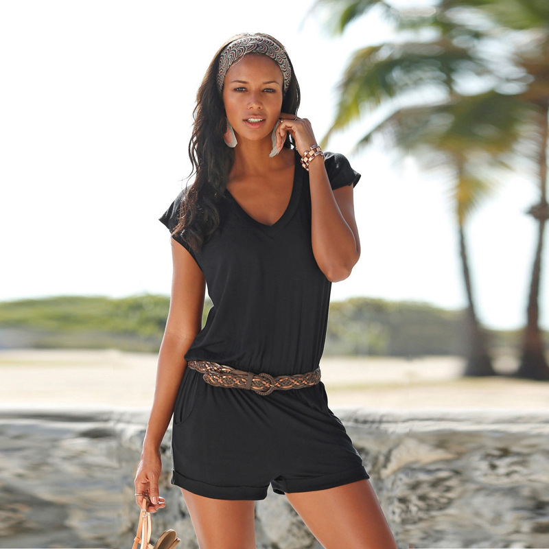 Hot Selling V-neck Sleeveless Onesie Cool Sexy Beach Onesie OM1