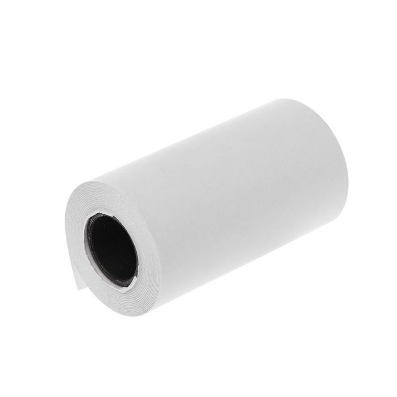 Фотобумага Мини Печать наклеек рулон термопринтеры прозрачная печать Smudge-Proof портативный - Цвет: white