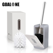 GOALONE Wall Mounted Toilet Brush and Holder Set Automatic Closing Soft Bristle Toilet Bowl Cleaning Brush Bathroom Accessories 16 toilet bowl brush and caddy in white [set of 12]
