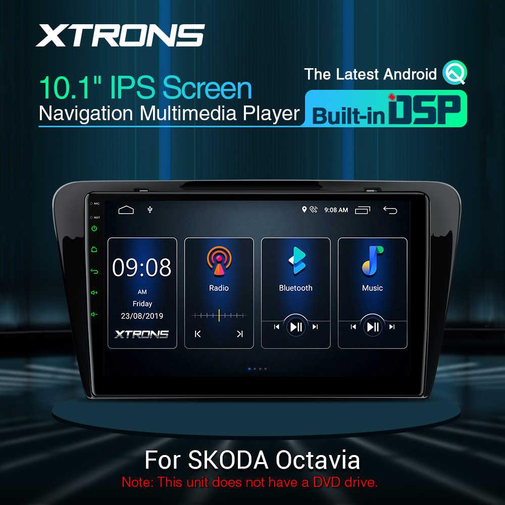 "XTRONS 10.1 ""DSP ล่าสุด Android IPS หน้าจอ GPS นำทางสำหรับรถยนต์ Skoda Octavia 2014-2016 RCA OBD ไม่มี DVD"