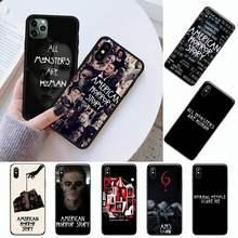 AHS de Historia de terror americano serie de TV caja del teléfono para iPhone 11 12 pro XS MAX 8 7 6 6S Plus X 5S SE 2020 XR
