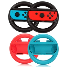 Grip Switch Gamepad Steering-Wheel Nintendo Controller for 2pcs Handle-Holder Right Left
