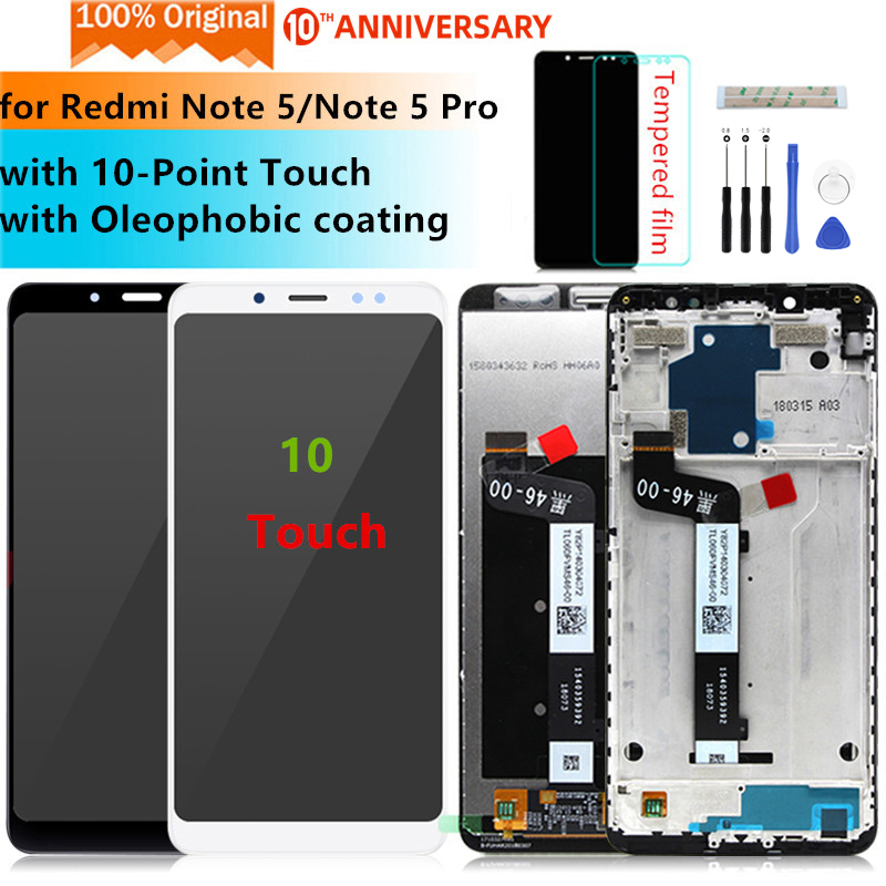Original for Xiaomi Redmi Note 5 lcd display Digitizer assembly with Frame for Redmi Note 5 pro display Replacement Repair Parts(China)