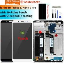 Oryginał dla Xiaomi Redmi Note 5 wyświetlacz lcd Digitizer montaż z ramką dla Redmi Note 5 pro wyświetlacz wymiana części naprawa