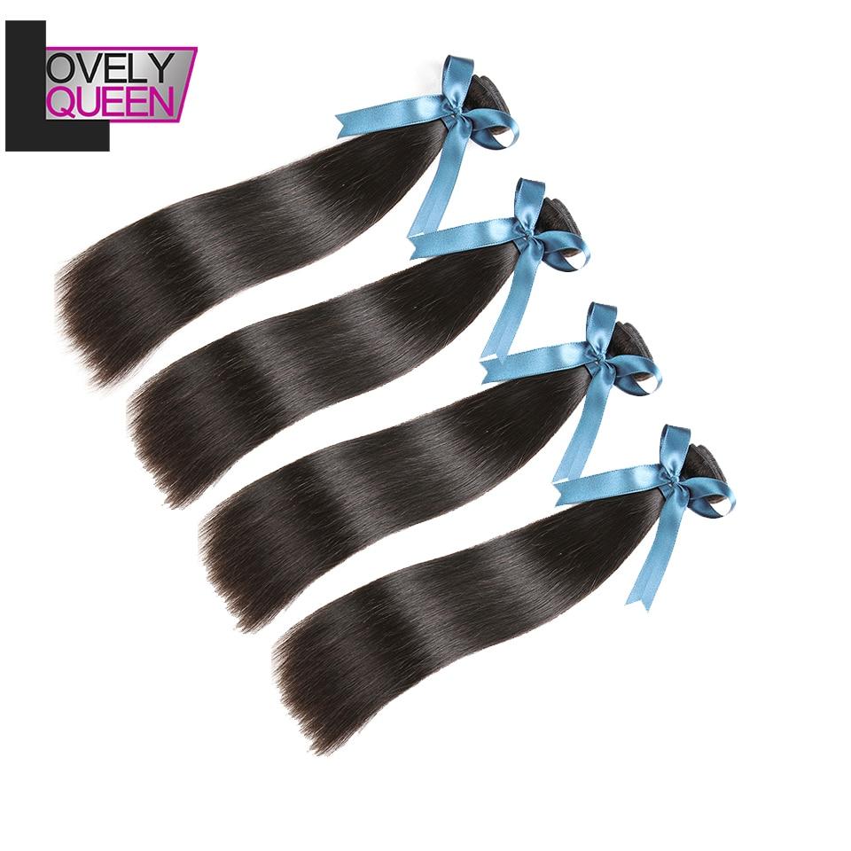 Brazilian Straight Hair Bundles 4 Bundles 8-26 Inch Human Hair Weaves Sew In Non Remy Real Human Hair Bundles