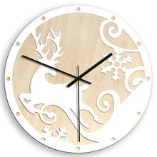 2020 Christmas Deer Creative Wall Clock European Living Room Wooden Elk Clocks Silent Movement Modern Design