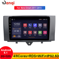Wanqi Car Radio For Benz Smart Fortwo 2011 2015 Multimedia Video Player Navigation GPS Android 8.1 Car Accessories SWC Bluetooth