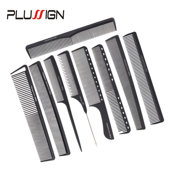 Plussign Wholesale Parting Comb Barber Accessories Home Salon Use Hot Professional Hair Brushes Rat Tail Wide Brush - discount item  30% OFF Hair Tools & Accessories
