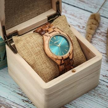 Женские кварцевые часы из дерева Shifenmei