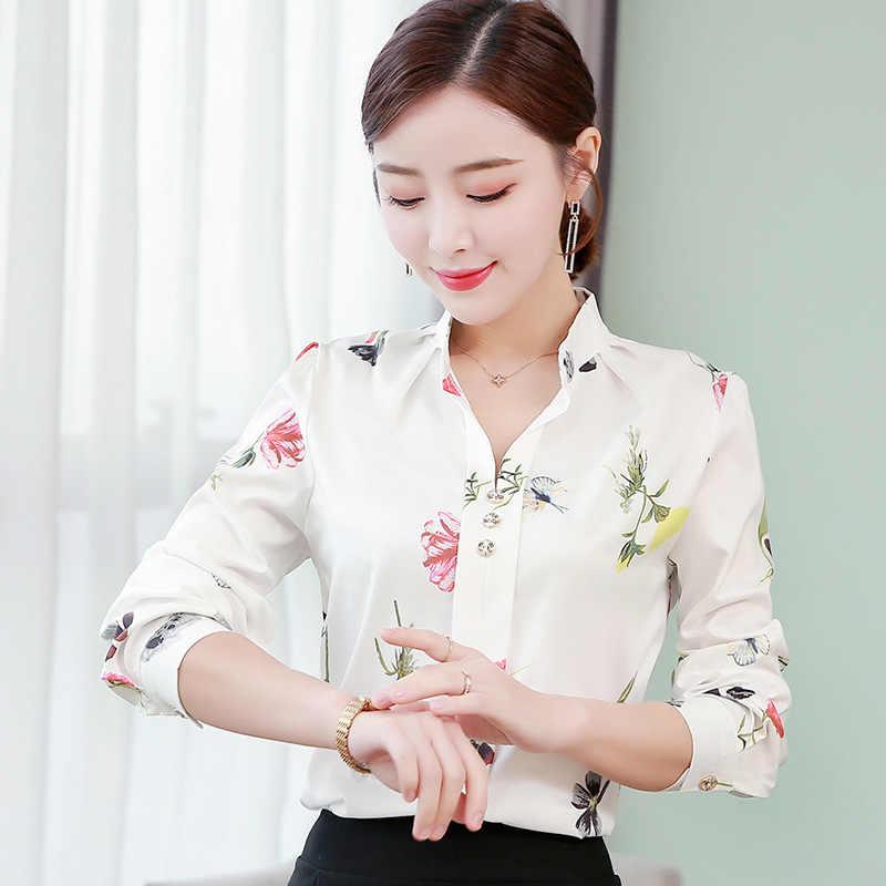 Shirts vrouwen elegant casual blouse Kantoor chiffon shirts Grote maat mujer de moda vrouwen Witte shirts Lente Herfst 5XL blouses