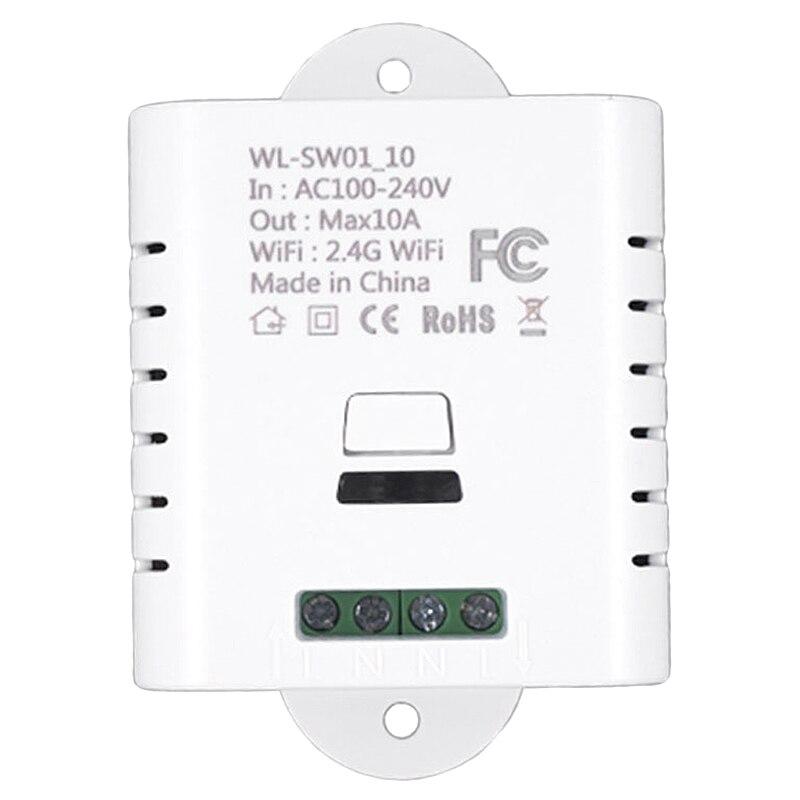 Wifi смарт-переключатель реле 10A Tuya Smart Life приложение беспроводной пульт дистанционного управления работает с Alexa Ifttt Google Home Mini