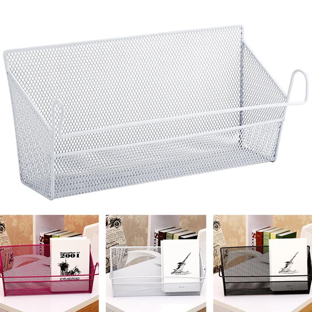 Metal Net Dormitory Bedside Hanging Basket Iron Wire Bookshelf Shelf Shelf Storage Rack Double-layer Organizer Easy Organizatio