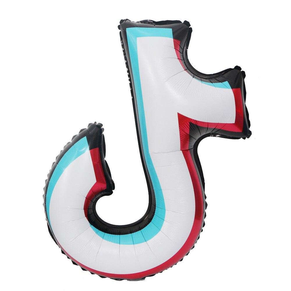 2021 тенденции моды TikTok тема День Рождения вечерние украшения воздушные шары воздушные музыкальная нота алюминиевая пленка воздушные шары в...