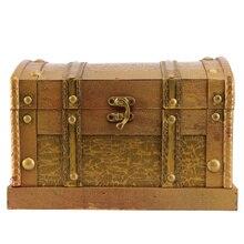 Storage-Organizer Treasure-Case-Decor Without Jewelry Chest-Box Trinket Keepsake Wooden