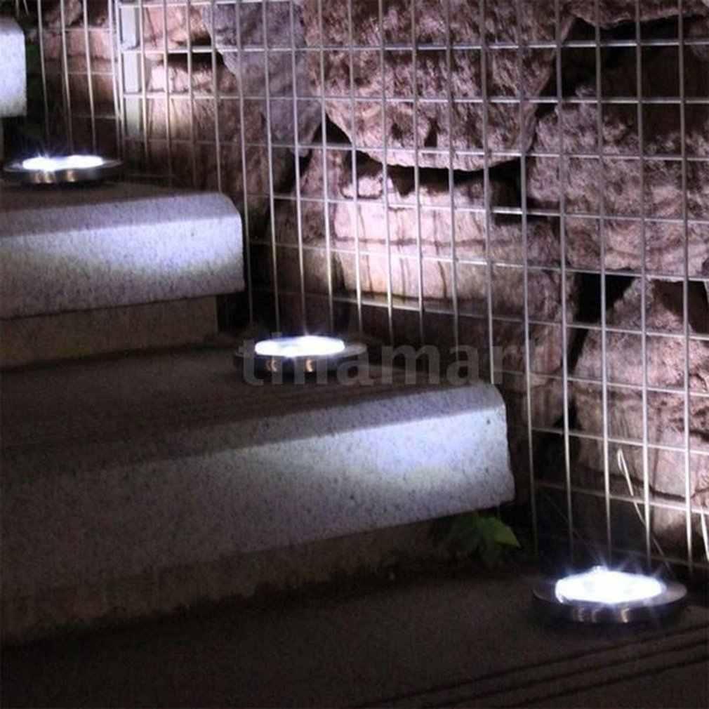Yüksek kaliteli paslanmaz çelik led güneş enerjisi gömülü ışık altında zemin lambası açık yol bahçe zemin kaplaması Drop Shipping satış