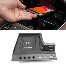10ワットの車のワイヤレス充電器メルセデスベンツW205 amg C43 C63 amg glc 43 glc 63 X253 cクラスglcチー電話の充電器ケース