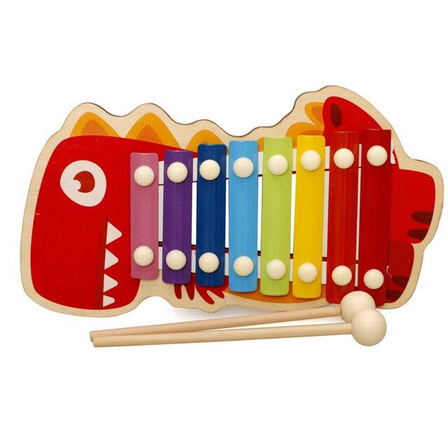 Enfants jouets musicaux arc-en-ciel en bois Xylophone Instruments bébé Instrument de musique apprentissage et jouets éducatifs garçons filles