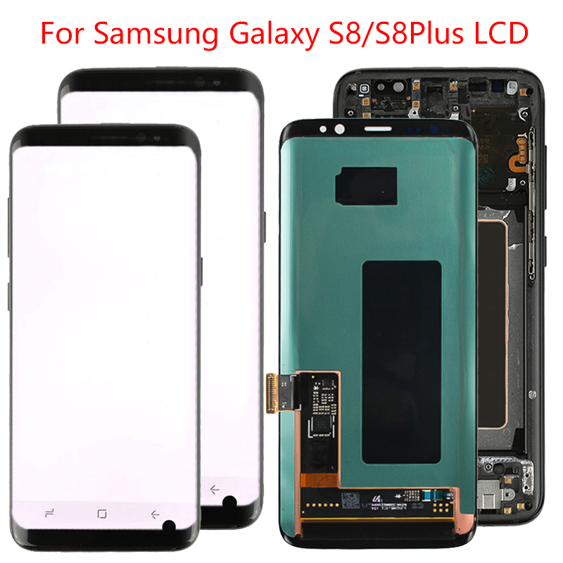Original S8 Plus LCD For Samsung Galaxy S8 LCD Display Screen Frame Assembly S8 Plus SM-G950F G955F LCD Display With Black Dot