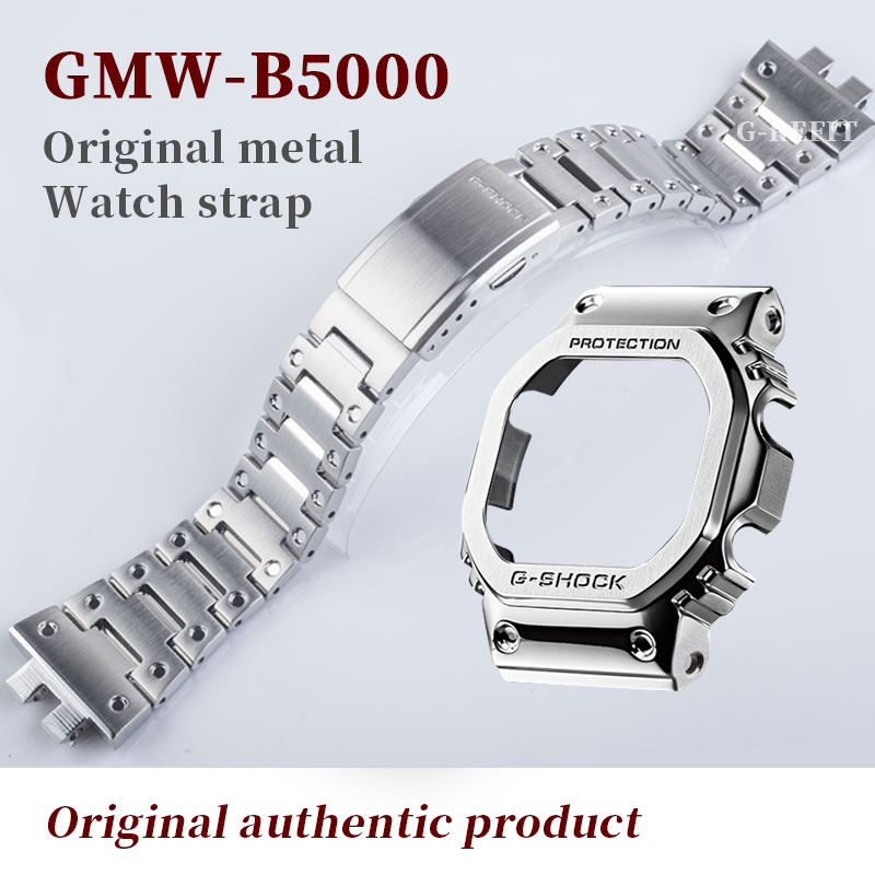 G-Refit GMW-B5000 Original factory 316L Stainless steel Watch strap/case <font><b>DW5000</b></font> 5600 titanium 2020 new models B5600 Repal tools image