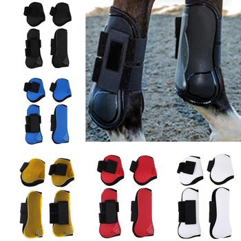 2 Pairs Horse Tendon Fetlock Boots Equestrian Sports Jumping Legs Protection Boots Lightweight Horse Protective Gears Equipment