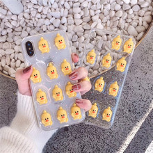 Cute 3D Star Duck Flower Fundas for Iphone Xs Max C
