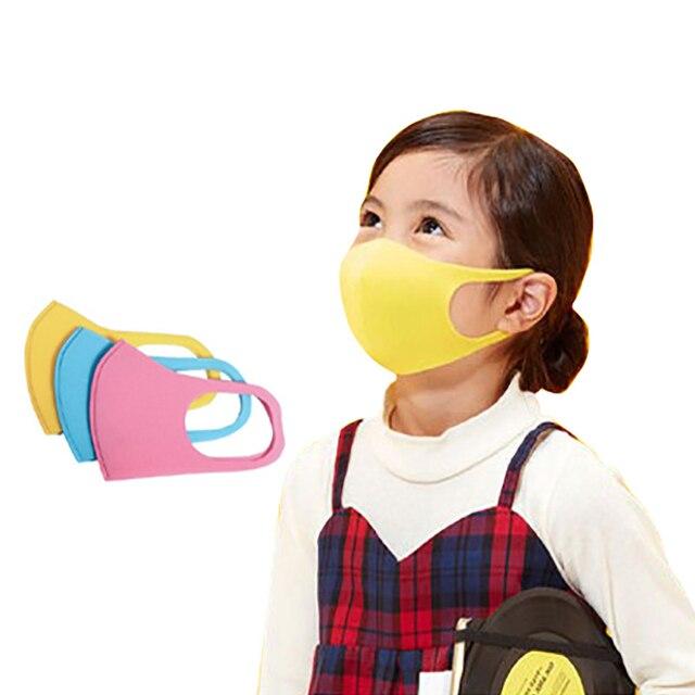 3Pcs/Set Child Face Mask Repeatable reusable washable Mask for Boy Girl Smog Windproof Masks High Quality washable black