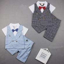 Клетчатый костюм для маленьких мальчиков, костюмы, официальная одежда, костюмы для мальчиков на свадьбу, Детские блейзеры, однобортный Детский костюм, детская одежда